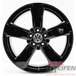 VW Passat 3C CC 18 Zoll Alufelgen Original Audi Felgen 4GM schwarz glänzend SG