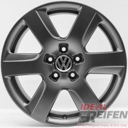 4 VW EOS 1F 17 Zoll Alufelgen 7,5x17 ET37 Original Audi Felgen Titan matt TM