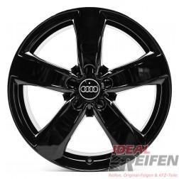 4 Audi A7 4G8 4GA 18 Zoll Alufelgen Original Audi Felgen schwarz glänzend SG