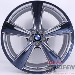 Original BMW X5 E70 F15 M 21 Zoll Alufelgen Styling 128 6776841 6776842 NEU CHROM