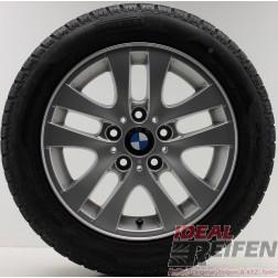4 Original BMW 3er E90 E91 E92 Alufelgen Styling 156 6775595 Wintersatz Pirelli