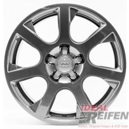 4 Original Audi Q5 8R 17 Zoll Alufelgen 8R0601025E 7x17 ET37 grau glänzend TG