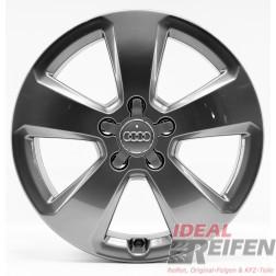 4 Original Audi A3 S3 8V 17 Zoll Alufelgen 8V0601025C 6x17ET48 grau glänzend 30145