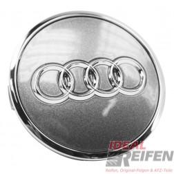 Original Audi Nabendeckel Felgen Radzierkappe 4M0601170 titan-glänzend NEU