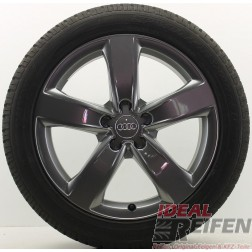 4 Original Audi A6 4G C7 Alufelgen 4G0601025M 7,5x18ET37 Wintersatz Black IR990