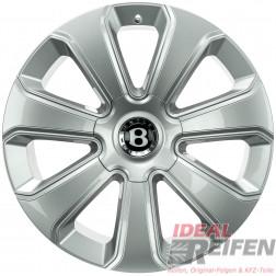 Original Bentley Bentayga Mulliner 10Jx22 ET28 36A601025 Alufelgen Silber glänzend