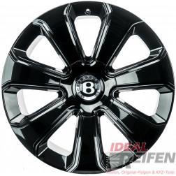 Original Bentley Bentayga Mulliner 10Jx22 ET28 36A601025 Alufelgen Schwarz glänzend