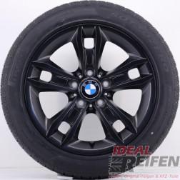 4 Original BMW X1 E84 17 Zoll Winterräder 7,5x17 ET34 225/50 R17 Schwarz matt NEU