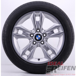 4 Original BMW X1 E84 17 Zoll Winterräder 7,5x17 ET34 225/50 R17 Silber NEU