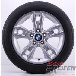 4 Original BMW X1 E84 17 Zoll Sommerräder 7,5x17 ET34 225/50 R17 Silber NEU