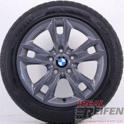 4 Original BMW X1 E84 17 Zoll Winterräder 7,5x17 ET34 225/50 R17 Titan glänzend NEU
