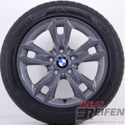 4 Original BMW X1 E84 17 Zoll Sommerräder 7,5x17 ET34 225/50 R17 Titan glänzend