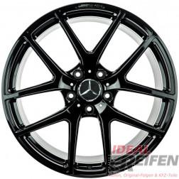 Original Mercedes Benz G-Klasse 21 Zoll Felgen W463 A4634010400 Schwarz glänzend