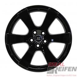 4 Hyundai Santa Fe ab 2001 19 Zoll Alufelgen 8x19 ET38 Felgen in schwarz glänzend