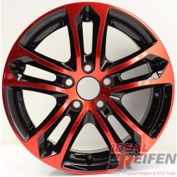 Carmani 5 Arrow Alufelge 6,5x15 ET38 5x100 KBA 47979 Red polish NEU/2