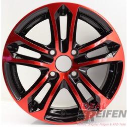 Carmani 5 Arrow Alufelge 6,5x15 ET25 4x108 KBA 47979 Red polish geb.