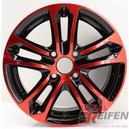 Carmani 5 Arrow Alufelge 6,5x15 ET25 4x108 KBA 47979 Red polish geb./2