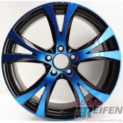 Carmani 9 Compete Felge 8x18 ET35 5x112 KBA 49247 Blue Polish geb.