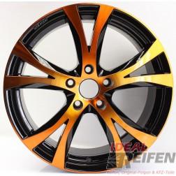 Carmani 9 Compete Felge 8x18 ET45 5x114 KBA 49247 Orange Polish gebr.