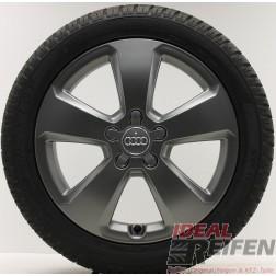 4 Original Audi A3 S3 8V Alufelgen 8V0601025C 6x17 ET48 Winterräder Dunlop Titan
