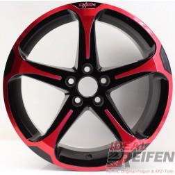 Oxigin 13 Panther Alufelge 7,5x17 ET35 5x100 Red Polish NEU