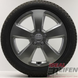 4 Original Audi A3 S3 8V Alufelgen 8V0601025C 6x17 ET48 Winterräder TG Dunlop