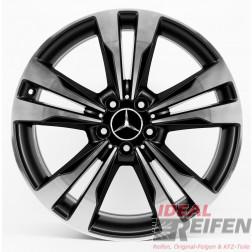 Original Mercedes S-Klasse W222 19 Zoll Alufelgen A2224011302 A2224011402 Schwarz exclusive