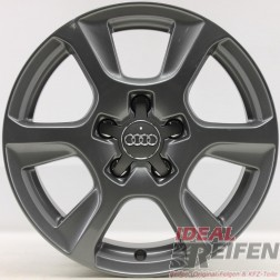 4 Original Audi A4 8K B8 16 Zoll Felgen 8K0601025M 7x16 ET46 grau glänzend 29463