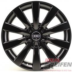 4 Original Audi A1 8X 16 Zoll Alufelgen 8X0601025BB 7x16ET34 Schwarz seidenmatt