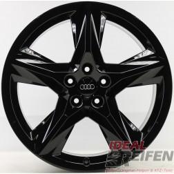 4 Original Audi Q7 4M Alufelgen 4M0601025AC 8,5x19 ET28 Schwarz glänzend 31374