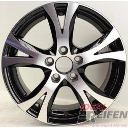 Carmani 9 Compete Felge 6,5x15 ET38 5x100 KBA 49246 Black polish gebr.