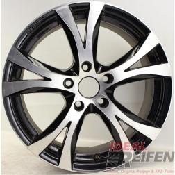 Carmani 9 Compete Felge 7,5x17 ET38 5x114,3 KBA 49009 Black polish gebr. /2