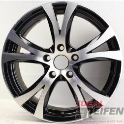 Carmani 9 Compete Felge 7,5x17 ET45 5x114,3 KBA 49009 Black polish gebr. /3