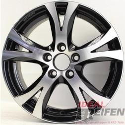 Carmani 9 Compete Felge 6,5x15 ET38 5x100 KBA 49246 Black polish gebr. /2
