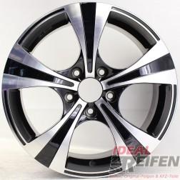 Carmani 11 Rush Alufelge 7,5x17 ET45 5x120 KBA 50083 Black polish gebr.