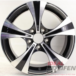 Carmani 11 Rush Alufelge 7,5x17 ET45 5x120 KBA 50083 Black polish gebr./1