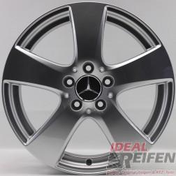 4 Original Mercedes Benz 17 Zoll Alufelgen C-Klasse W205 A2054010400 7x17ET48,5