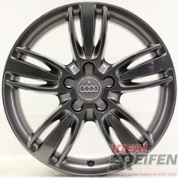 4 Original Audi Q3 8U 17 Zoll Alufelgen 8U0601025P 7x17 ET43 Felgen titan glänzend