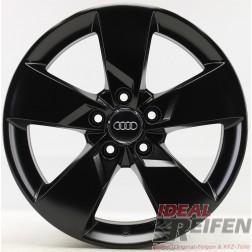 4 Original Audi TT TTS 8S 17 Zoll Felgen 8S0601025 8x17 ET47 Schwarz seidenmatt