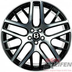 Original Bentley Continental GT3 GTC 9,5x21 ET41 Felgen Schwarz Front gedreht