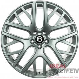 Original Bentley Continental 21 Zoll Flying Spur Alufelgen 9,5J x21 ET41 Silber