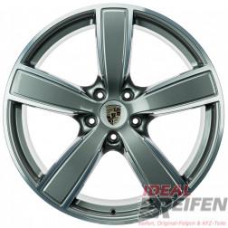 4 Original Porsche Cayenne 9Y Sport Classic II 22 Zoll Alufelgen Satz anthrazit-poliert