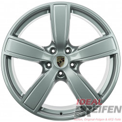 4 Original Porsche Cayenne 9Y Sport Classic II 22 Zoll Alufelgen Satz Silber glänzend