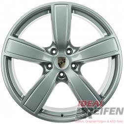 Original Porsche Cayenne 9Y 22 Zoll Felgen 9Y0601025AP 10x22 ET48 9Y0601025AQ 11,5x22 Silber glänzend